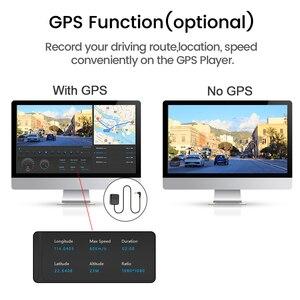 Image 4 - E ACE 10 дюймов сенсорный автомобильный видеорегистратор потоковое медиа зеркало видеорегистратор FHD 1080P видеорегистратор двойной объектив Поддержка 1080P камера заднего вида GPS