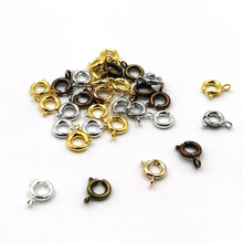 30Pcs/Lot Vintage Metal Spring Clasps With Open Round Rings Jewelry Clasps For Chain Necklace Bracelet Connectors Jewelry Making 30pcs lot gold silver spring ring clasp with open jump ring jewelry clasp for chain necklace bracelet connectors jewelry making