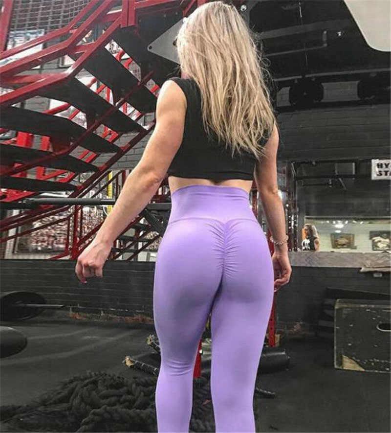 US Women Butt Lift Yoga Pants High Waist Honeycomb Leggings Gym Workout Trousers