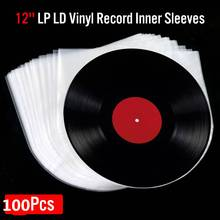 Bags Container Clear-Cover Record-Sleeves Outer-Inner Anti-Static Plastic LP 100pcs 12-OPP
