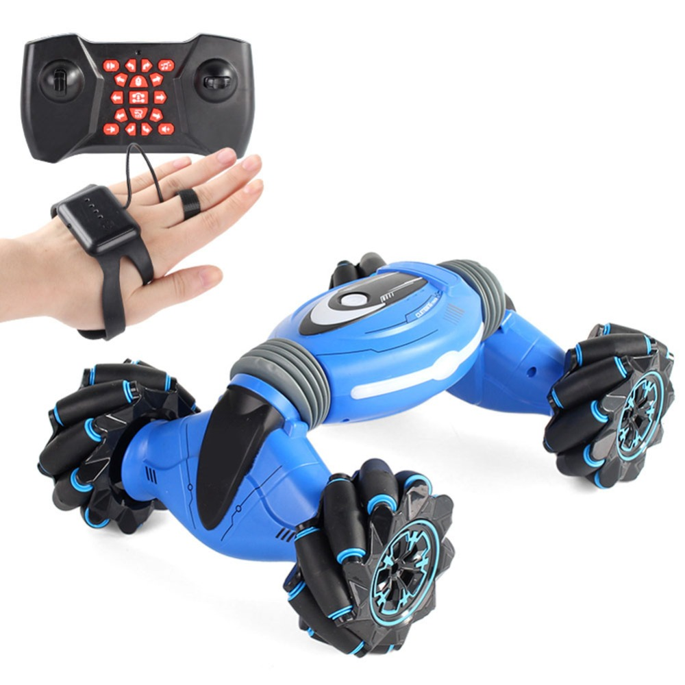 RC Car Remote Control Stunt Car Gesture Induction Twisting Off-Road Vehicle Light Music Drift Dancing Side Driving Toy For Kids