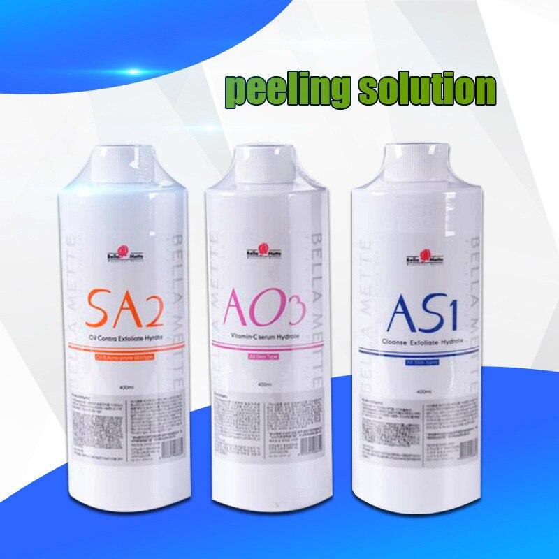 100% South Korea Imports Aqua Peel Solution AS1 SA2 AO3 Aqua Facial Serum Hydra Facial Serum For Normal Skin Aqua Clean Solution