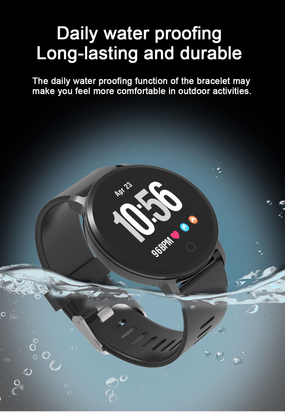 BingoFit Smartwatch Health Blood Pressure Pedometer Sleep Monitor