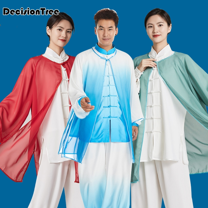 2019 Single Shawls Elegant  For Men And Women Cape Only Wushu Kung Fu Uniform Tai Chi Suit Martial Arts Performance Suit