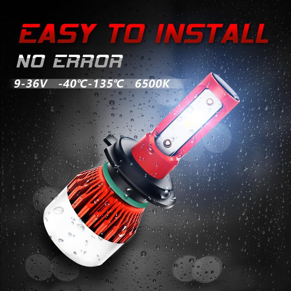BRIDAY LED car Headlight Bulbs 6500K H4 H7 H11 H8 HB4 H1 H3 HB3 48W 4800LM 9005 9006 led automotivo Lamp lamp for cars