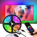 Bluetooth Светодиодная лента 5 м Rgb 5050 Smd светодиодные полосы Водонепроницаемый геймера украшения комнаты неоновый светильник Usb 5v светодиодный ...