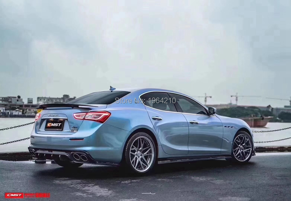 For Maserati Ghibli 3.0T S Q4 2014 2015 <font><b>2016</b></font> Carbon Fiber Rear Trunk Spoiler Tail Boot Lip Wing Car Styling image