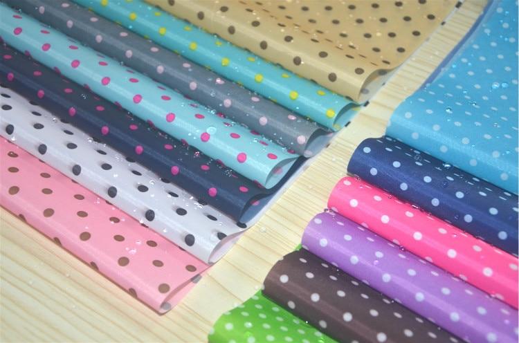 Tissu imperméable en Polyester, 190T, tissu enduit PU, impression de points, bricolage, couture, parapluie, tente, largeur 150cm