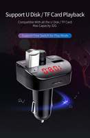 fm tf Car Charger with FM Transmitter Bluetooth Receiver Audio MP3 Player TF Card U-disk Car Kit Dual USB Car Phone Fast Charger (4)