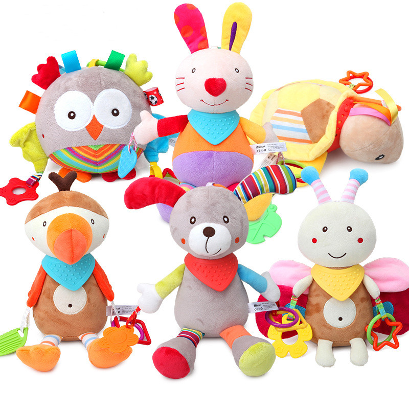 Baby Mobile Toys Cradle Toy Baby Rattles Hanging Bed Stroller Baby Bed Hanging Rattle Toys Gift For Baby Boy Girl Baby Toy Plush