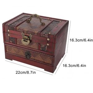 Image 5 - Multi Layer Jewelry Storage Box Dust proof Wooden Necklace Earrings Storage Container Box Jewelry Holder Decoration Organizer