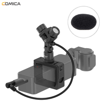 COMICA CVM-MT06 XY Cardioid Mini Stereo Microphone for DJI OSMO POCKET Accessories Kit for Video Recording Vlogging(3.5mm TRS) comica cvm dl cpx 3 5mm trs audio input cable 3 5mm trs to trs dual male cable for comica wm200 wm300 wm100 wireless microphone