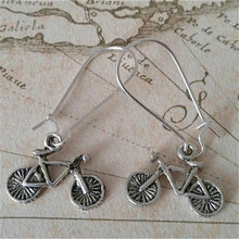 Bicycle earrings bike vintage jewelry retro gift for sports
