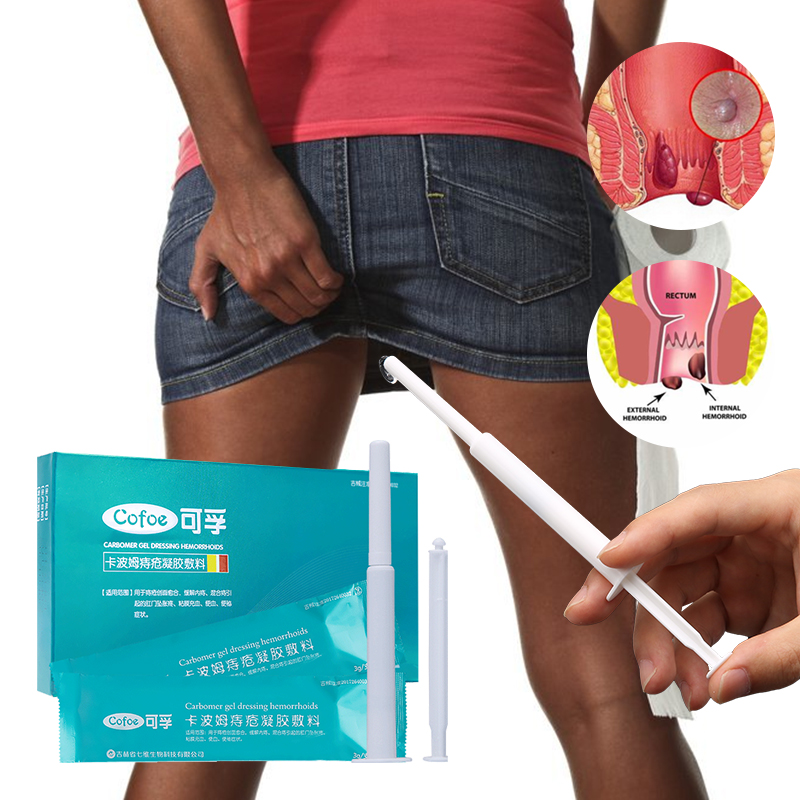 Cofoe Hemorrhoid Ointment Cream Exteral Hemorrhoid Transparent Gel Internal Hemorrhoids Applicator For Anus Hemorrhoid Relief