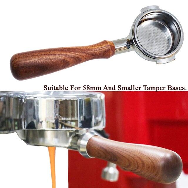 51/58mm de aço inoxidável máquina de café sem fundo filtro titular portafilter ramo lidar com acessório profissional fatacado