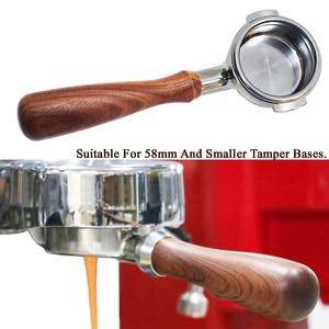 Image 1 - Porte filtre sans fond pour Machine à café en acier inoxydable 51/58MM, poignée de branche, accessoire professionnel