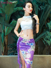 Bellydance oriental dance set baladi Indian eastern desert swings costumes for belly dance top skirt dress robe wear(China)