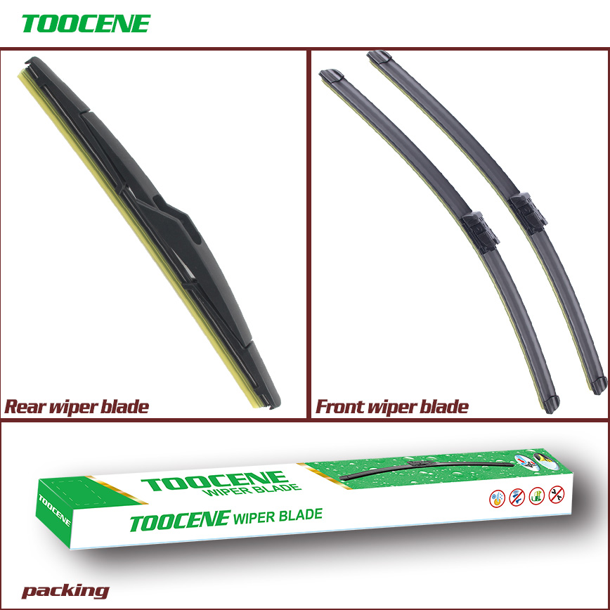 Wipers Front and Rear Wiper Blades Set for Ford Fiesta 7 2008-2016 Windshield Windscreen Front Rear Window 26+15+12