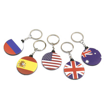 Pendant Organizer Keychain Key-Holder Country Xmas Desk-Accessories Toy Flag Gift Office-Shool-Supply