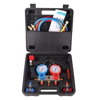 R134A HVAC A/C Холодильный набор AC манометр набор авто сервисный комплект автомобильный Кондиционер ремонт Фтор Разливочный инструмент