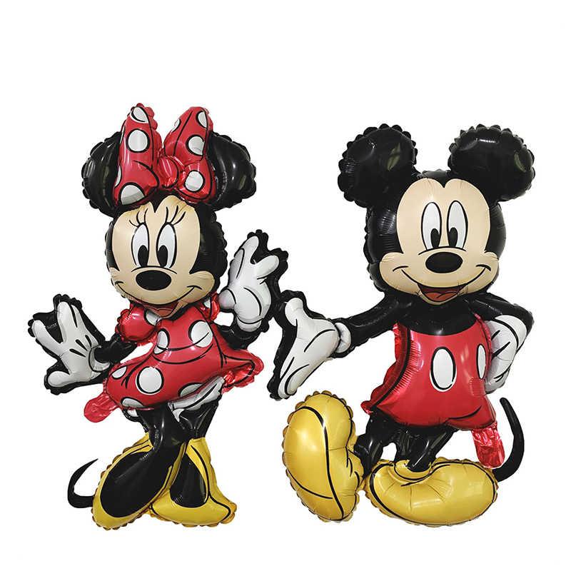 Mickey Minnie Folie Ballonnen Gelukkige Verjaardag Partij Decoratie Kids Baby Douche Lucht Globos Ballon Kinderen Speelgoed