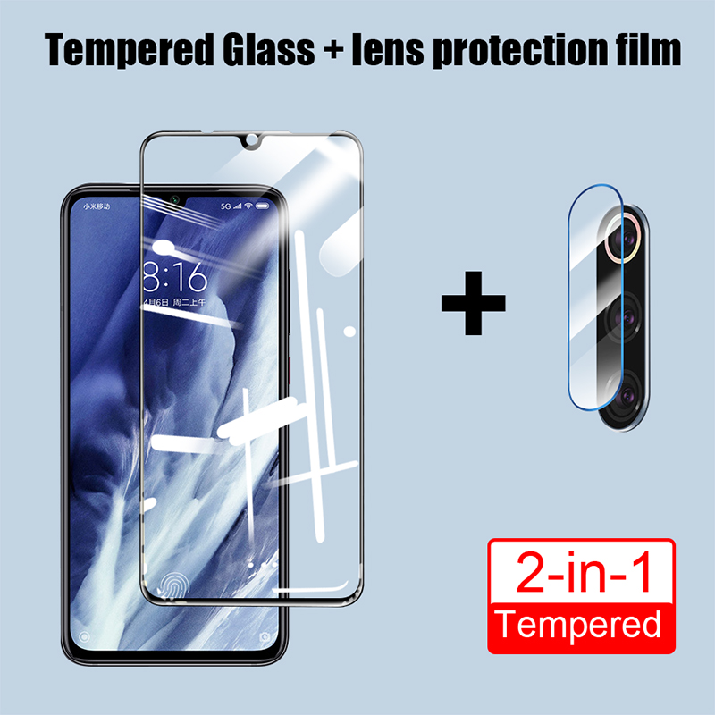 ZNP 9D Full Cover Tempered Glass For Xiaomi Mi 9 SE 9T Pro Camera Lens Screen Protector For Xiaomi A2 A3 9 Lite Protective Glass