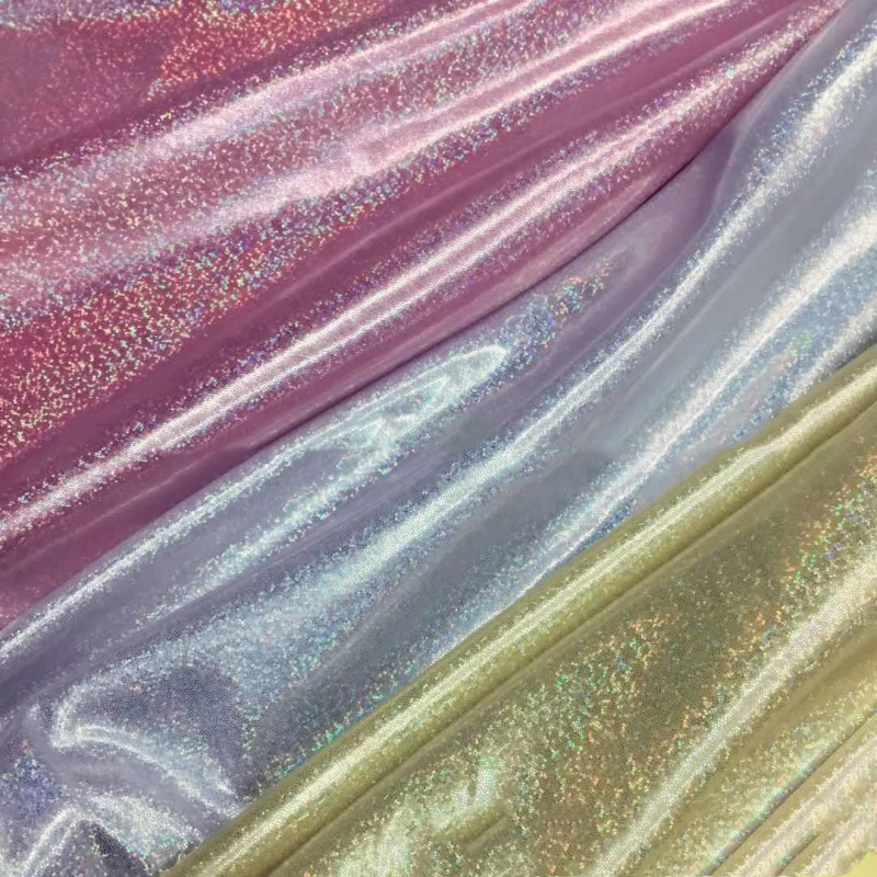 150cm*100cm/pc Colorful Laser Cloth Stage Photo Shiny Fabric Bright Clothing Dress Sewing Fabric Tablecloth DIY Accessories image