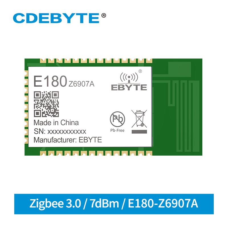 TLSR8269 IoT Wireless Soc Transceiver ZigBee 3.0 Module 2.4GHz 7dBm 130m 32 Bit MCU 512kb PCB Antenna Wireless Transmitter