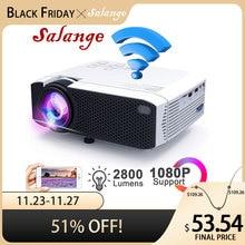 Projektor LED Salange E400S, mini projektor do smartfona, lustro bezprzewodowe lub USB do telefonu iPhone z systemem Android, projektor Wi Fi z HDMI VGA AV