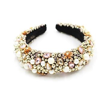 Heavy Crystal Color Shiny Diamond Headband  5
