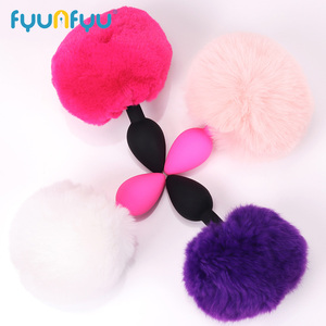 New Rabbit Girl Tail Butt Plug Small Size Silica Gel Anal Toys Hairy Adult Sex Toys Sex Products Waterproof Hairy Anal Plug