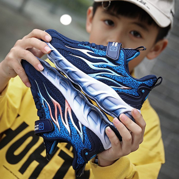 Hot Children's Casual Shoes Kids Shoes Boys Sneakers Breathable Patchwork Blade Student Sport Running Shoes 12 13 14 Year Old