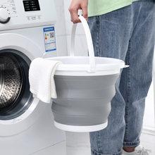 10l/5l/3 dobrável balde portátil dobrável tampa balde de lavagem do carro silicone balde crianças ao ar livre pesca viagem armazenamento em casa