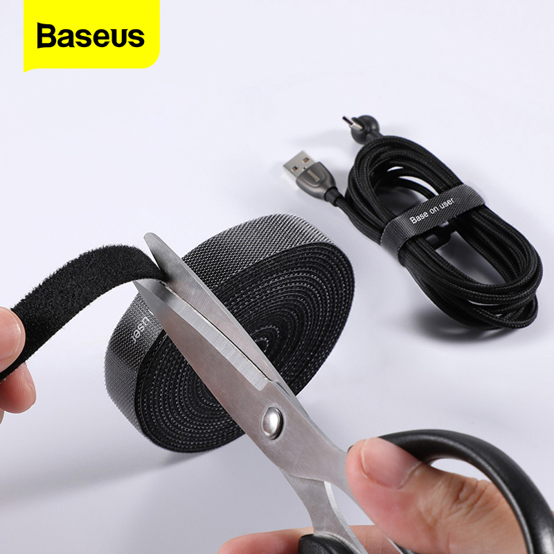 Baseus Cable Organizer Wire Winder For IPhone Micro USB Type C HDMI Cable Management Holder Mouse Earphone Cord Protector Clip
