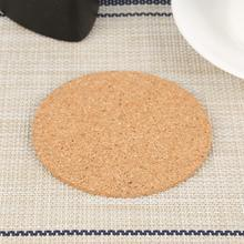 1PC Pure Natural Round Wooden Slip Slice Cup Mat Coaster Tea Coffee Mug Drinks Holder For DIY Tableware Decor Durable Pad cheap CN(Origin) Cork Coasters Eco-Friendly Stocked Traditional Chinese As the picture shown 90*3mm 1 x Plain Cork Mats Wholesale Dropshipping