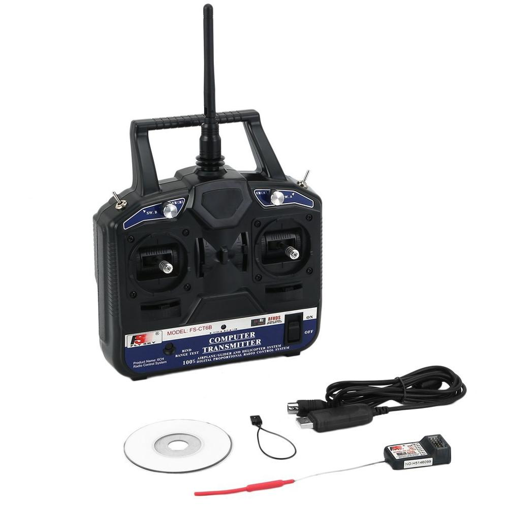 FS CT6B 2.4G 6CH Radio Set System Transmitter RC 6CH Transmitter + 6CH Receiver For Vehicles & Remote Control Toy