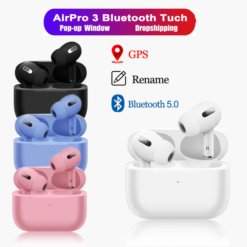 NEW Macaron Airs Pro 3 <font><b>TWS</b></font> In Ear Blutooth 5 <font><b>Earphone</b></font> <font><b>Wireless</b></font> Headsets <font><b>Mini</b></font> Headphones Stereo Earbuds Touch For All <font><b>Smart</b></font> Phone image