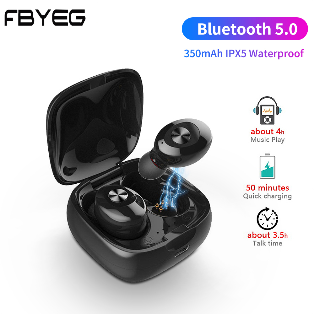 FBYEG TWS 5.0 XG12 Bluetooth stereo headset HD wireless Earbuds noise canceling gaming headphones