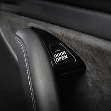 Dla Tesla Model 3 przycisk otwierania drzwi szybka naklejka przezroczysty uchwyt naklejka na guzik przypomnienie wnętrza naklejki akcesoria samochodowe