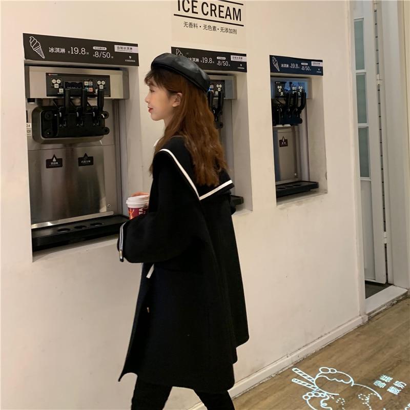 H574e5f9aba574964b18c25a84104100bK - Winter Korean Big Lapel Collar Mid-Long Faux Woolen Coat
