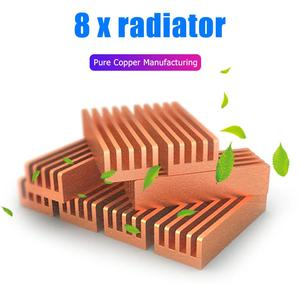 8pcs Adhesive Pure Copper Heatsink Laptop RAM Memory Motherboard Chip Cooler Radiator with Excellent Heat Dissipation