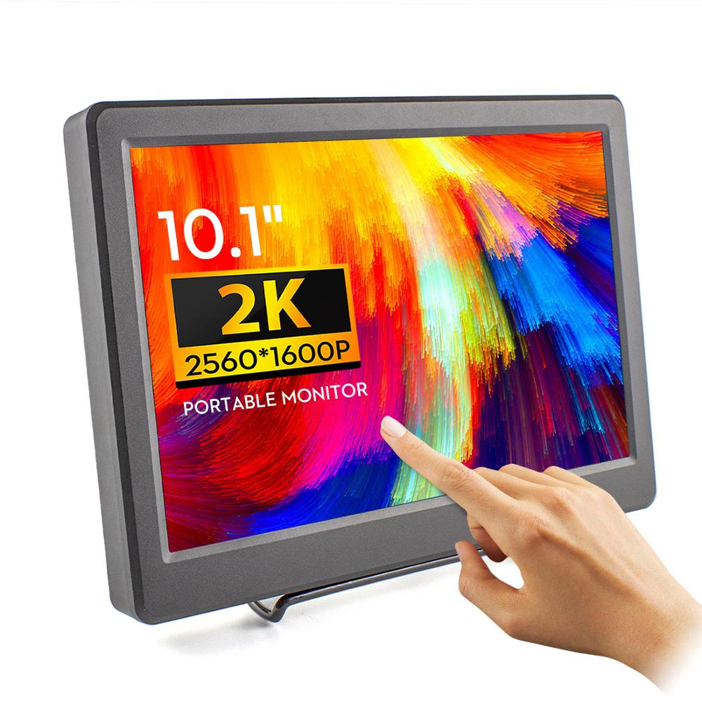 Elecrow Portable Monitor 10.1 Inch 2K Touchscreen Monitor 2560*1600P Capacity Touch Screen IPS Display For Laptop Game Devices