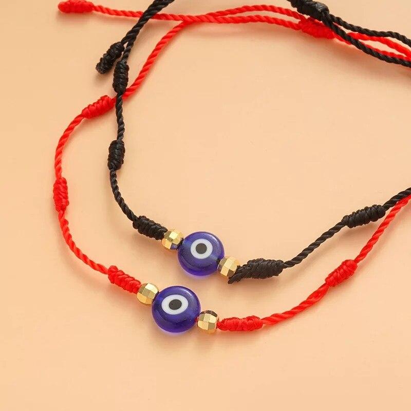 High quality Hand-woven Kabbalah Protection Handmade devil's eye bracelet for Women Men Kids Adjustable Red String Amulet