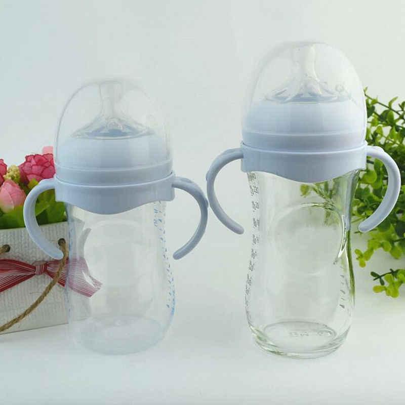 Mango de silicona para botella de bebé para boca ancha Natural PP botellas de alimentación de vidrio botella de leche alimentación de bebé