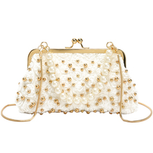 Fairy small handbag 2019 summer new fashion luxury high quality Messenger bag lady rivet chain shoulder pearl evening bag clutch