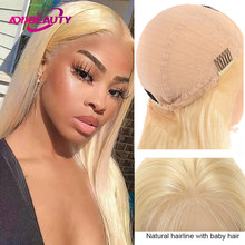 Straight 13x4 13x6 Lace Frontal Wig Brazilian Virgin Human Hair Wigs 613 Ombre Blonde Color Wig Pre-plucked With Baby Hair 150%