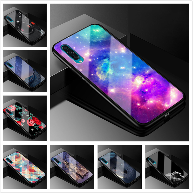 For <font><b>Samsung</b></font> A30S <font><b>Case</b></font> Tempered Glass Hard Back Cover For <font><b>Samsung</b></font> Galaxy <font><b>A50S</b></font> Phone <font><b>Cases</b></font> 6.4'' <font><b>silicone</b></font> bumper A 30S <font><b>2019</b></font> A 50S image