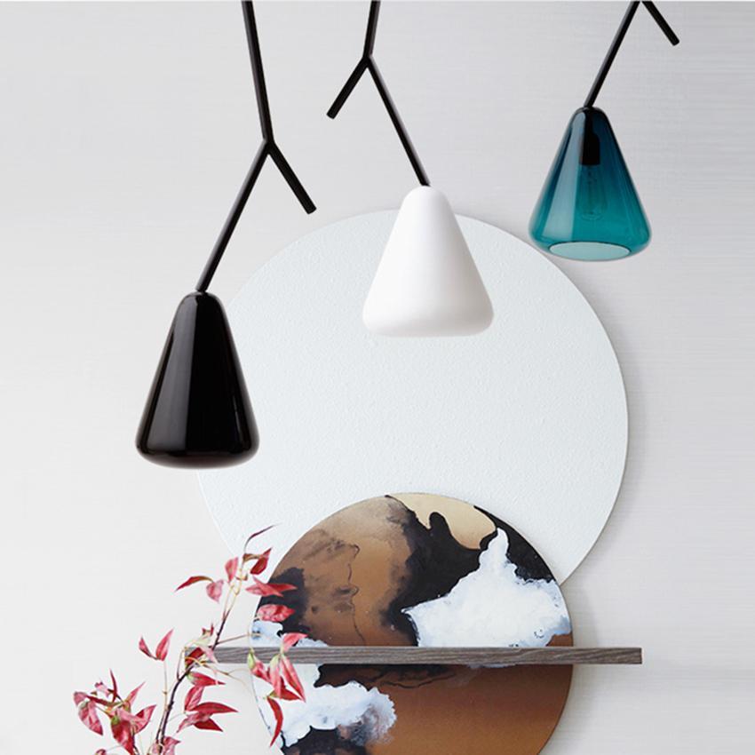 Modern LED Boughs Glass Pendant Lights Lighting Nordic Design Loft Deco Pendant Lamp Living Room Bedroom Bedside Home Hanglamp