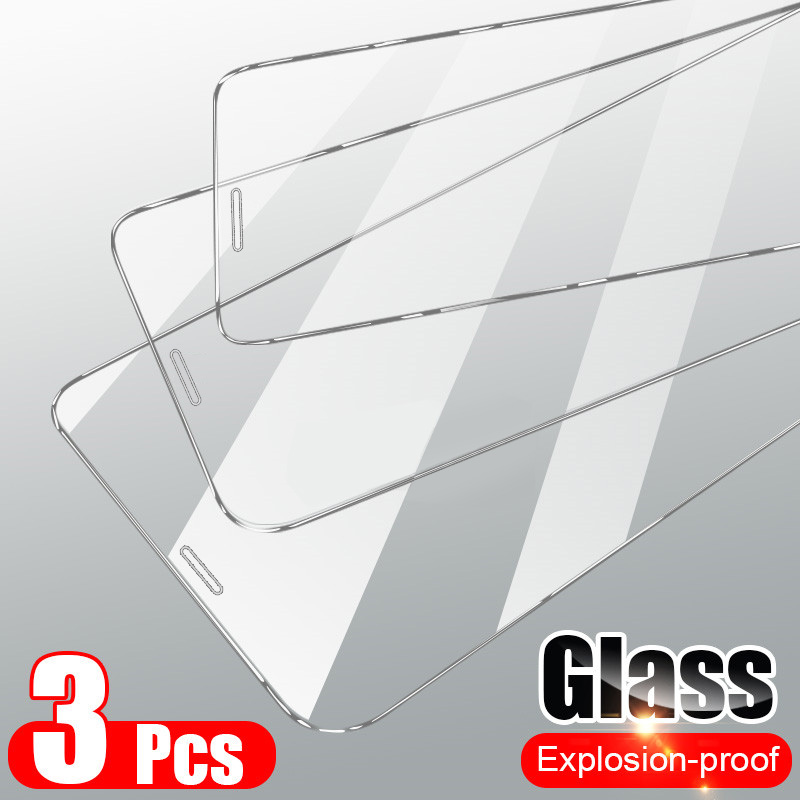 3Pcs Tempered Glass On The For iPhone 7 8 6 6s Plus 5 5S SE Screen Protector For iPhone 11 Pro Max X XS Max XR Protective Glass