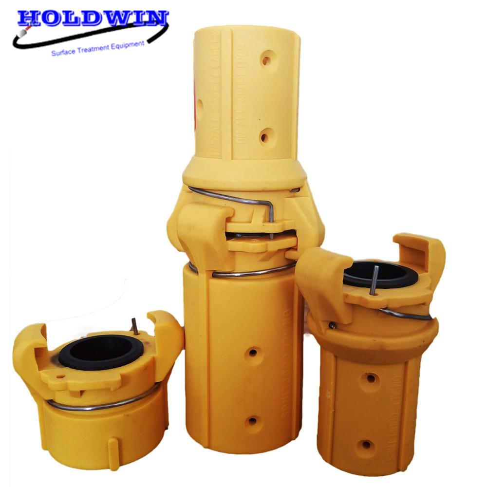 HOLDWIN Yellow Quick Nylon Couplings For Sandblast Hose Sand Blasting Nozzle Holder For Sandblastermachine 1'' 1 1/4''